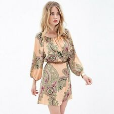 RICHCOCO® Paisley Pattern Printing Seven Straight Points dress UK 10 Box1471 h