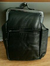 Eclipse Black Eclipse Leather Cigarette 2 Zippers/Coin Purse Up To 100's