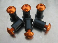 Screen Bolt Kit, orange anodised alu, 6 bolts, for KTM 990 Adventure