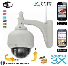 Wireless IP outdoor camera dome optical zoom 3X IRcut waterproof PTZ nightvision