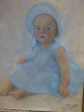 Superbe pastel great painting baby