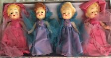 4 VINTAGE RETRO HARD PLASTIC ROSEBUD ENGLAND ENGLISH DOLLS CHRISTMAS TREE FAIRY