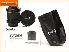 Opteka 6.5mm f3.5 Aspherical IF MC Fisheye CS Lens - Nikon Fit + Free UK Postage