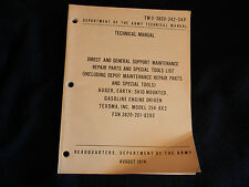 1974 AUGER, EARTH: SKID MOUNTED TM 5-3820-242-34P Depart of Army Tech Manual *42