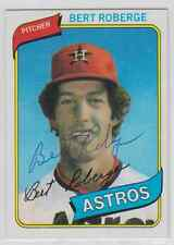 Autographed 1980 Topps Bert Roberge - Astros