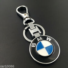 Car Logo Metal Alloy Double sided Key Chain Key Ring for BMW Free Shipping
