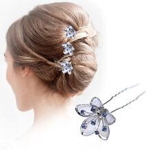 Crystal Hair Pins Ladies Wedding Fashion Accessories Pieces Diamante Slides Clip