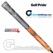 Golf Pride New Decade Multi Compound MCC Plus 4 Grips - Black / Orange x 3
