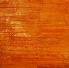 "24""x 60"" Genuine Lg ORANGE EEL Skin Leather Hide  Crafts M75Y"