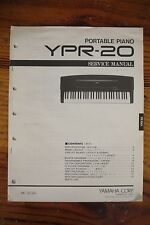 Yamaha Portable Piano YPR-20 Service Manual