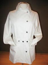 Nieuwe witte jas met drukknoopceintuur van Jackpot