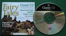 Classic CD Fairy Tales Extracts Hansel & Gretel Aladdin Jacqueline de Pre + CD