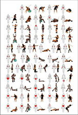 """012 GYM SIZE High Quality Wall Art EXERCISE LAMINATED 14""""x21"""" Poster"""