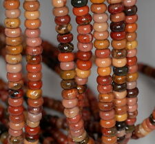 6X4MM  PICASSO JASPER GEMSTONE GRADE AA RONDELLE 6X4MM LOOSE BEADS 16""