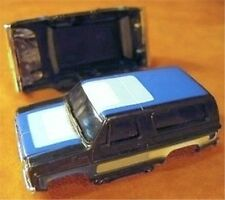 1980 Aurora AFX Chevy Blazer Black-n-Blue Slot Car Body