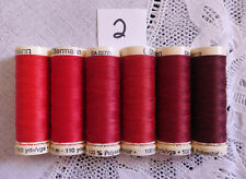 6 different red colors GUTERMANN 100% polyester thread 110 yds each spool #2
