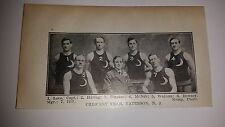 Crescent Paterson New Jersey 1911-12 Basketball Team Picture RARE!