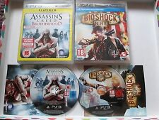 2 x Playstation 3 / PS3 Games - Assassins Creed Brotherhood & Bioshock Infinite