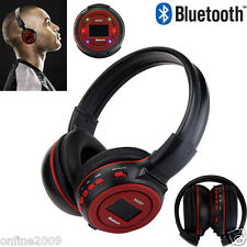 Bluetooth 3.0 Wireless Stereo Headset Headphones With Call Mic Support FM TF SD