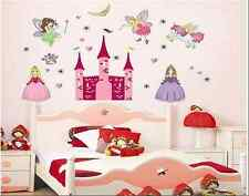 Fairy Maiden Pixie Princess Castle Nursery Child Girl Art Wall Sticker Decals UK