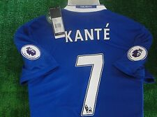 CHELSEA HOME SHIRT N'GOLO KANTE  2016-17 BNWT SIZE LARGE PREMIERSHIP BADGES