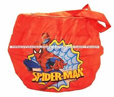 MARVEL SPIDER-MAN Nylon Collapsible Pail HALLOWEEN/EASTER Bucket/Basket NEW!