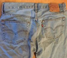 Original Levi's 501 Denim Jeans W34 L36 Button Fly Light Blue Cotton Grade A