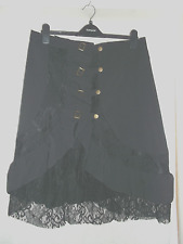 Black lace & buckle steampunk goth skirt size 16/18