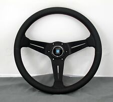 Nardi Steering Wheel Deep Dish Corn Racing 350mm Black Perf Leather Type A Horn