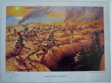 "ANZAC ""Attack at Lone Pine"" Rare Military Digital Colour Print by Allan Waite"