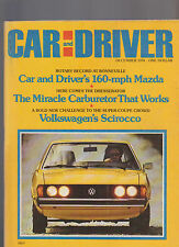 Car and Driver Magazine December 1974 Volkswagen Scirocco Datsun Chrysler