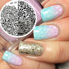 Nail Art Stamp Stamping Template Image Plate Plaque Mixed Abstract BORN PRETTY28
