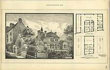 1888, St Marylebone Public Mortuary Design And Plan Saxon Snell