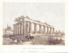 Ruins of the Temple at Corinth, An Antique Chromo-lithograph, 1869