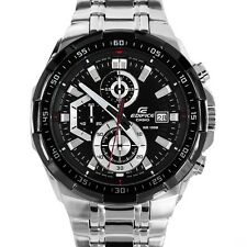 casio EFR-539 chronograph mens watch BLACK DIAL STEEL STRAP..NEW ARRIVAL