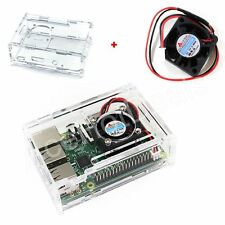 Clear Acrylic Case with Cooling Fan for Raspberry Pi 2/3 Model B