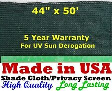 "USA 3' 8"" x 50' 90% SHADE CLOTH PRIVACY SCREEN  POULTRY AVIARY SUN BLOCK NETTING"