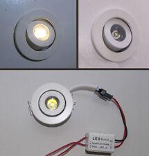 FARETTO TONDO ORIENTABILE DA INCASSO MINI SPOT LED per uso interno 1 W