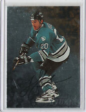 1998-99 BE A PLAYER AUTO ANDREI ZYUZIN AUTOGRAPH IN THE GAME 116 SHARKS