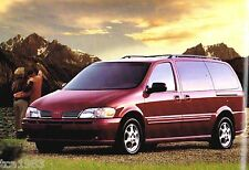 2001 OLDSMOBILE SILHOUETTE Mini-Van Brochure / Catalog with Color Chart: MiniVan