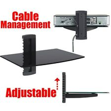 Glass Shelf Wall Mount Bracket Under TV LCD - DVD Bluray Xbox PS3 DVR Cable Box