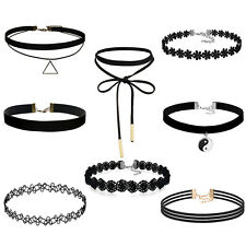 Choker Necklace for Women Black Classic Velvet Stretch Gothic Tattoo Lace
