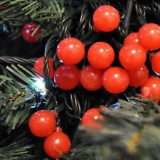 160 LED FESTIVE RED CHRISTMAS BERRY TREE LIGHTS MAINS INDOOR OR OUTDOOR BERRY160