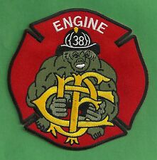 CHICAGO FIRE DEPARTMENT ENGINE COMPANY 38 PATCH THE HULK