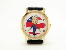 BILL CLINTON BACKWARDS RUNNING NOVELTY POLITICAL CAMPAIGN WATCH