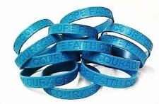 Sexual Assault Awareness Teal Bracelets Jelly Wristbands Lot of 12 IMPERFECT