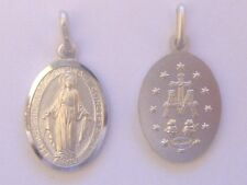 SOLID STERLING SILVER CHRIST MIRACULOUS MEDAL PENDANT CHARM FOR A CHAIN