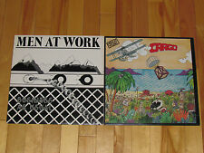 MEN AT WORK 2 LP LOT ALBUM VINYL COLLECTION Records Business as Usual/Cargo