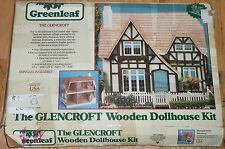 Vtg 1983 Greenleaf THE GLENCROFT Wooden Dollhouse Kit #8001 English Tudor Precut