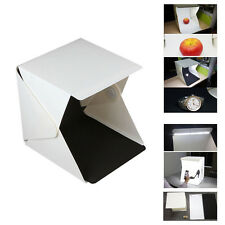 "New 9"" Folding Lightbox Studio LED Photography Box for Smartphone or DSLR"